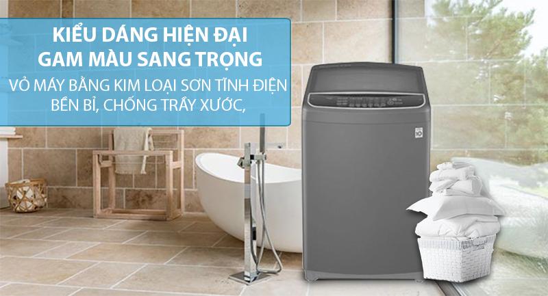 Máy giặt LG Inverter 10.5 kg T2350VSAB-Gam màu sang trọng, vỏ máy bằng kim loại sơn tĩnh điện bền bỉ