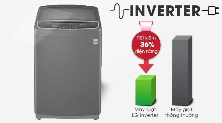 Máy giặt LG Inverter 11.5 kg T2351VSAB - tiết kiệm điện năng Inverter