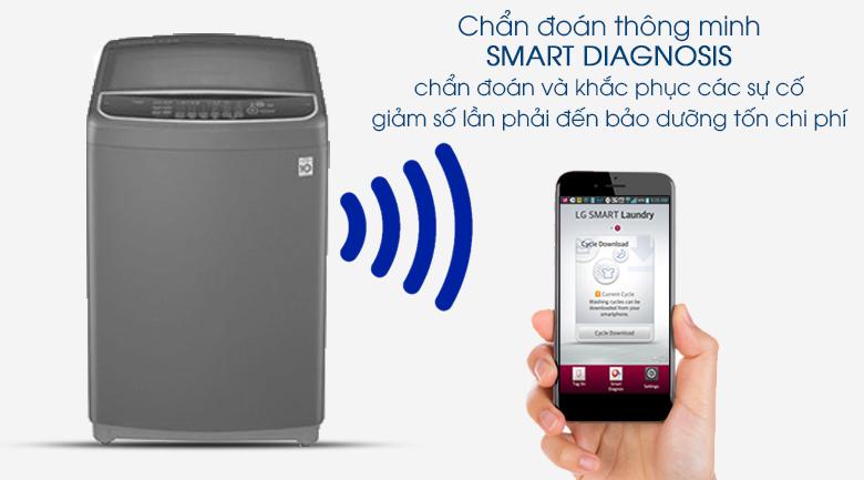 Máy giặt LG Inverter 11.5 kg T2351VSAB - chẩn đoán thông minh Smart Diagnosis