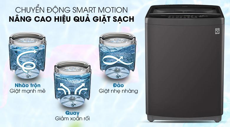 Máy giặt LG Inverter 11.5 kg T2351VSAB - Chuyển động thông minh Smart Motion 3