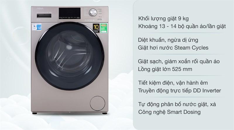 Máy giặt AQUA Inverter 9.0 Kg AQD-DD900F N