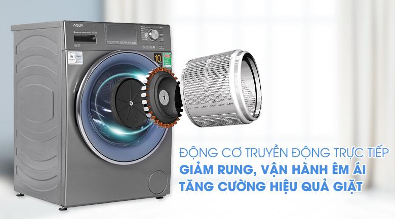 Máy giặt Aqua Inverter 10.5 KG AQD-DD1050E S - Động cơ truyền động trực tiếp