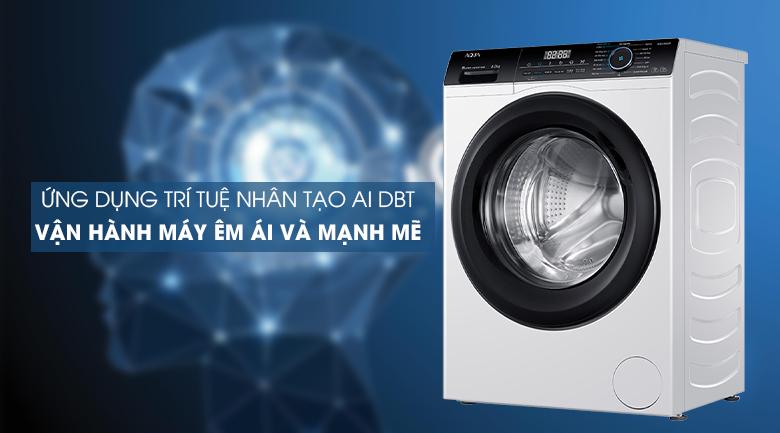 Máy giặt Aqua Inverter 8 KG AQD-A800F W ứng dụng trí tuệ nhân tạo