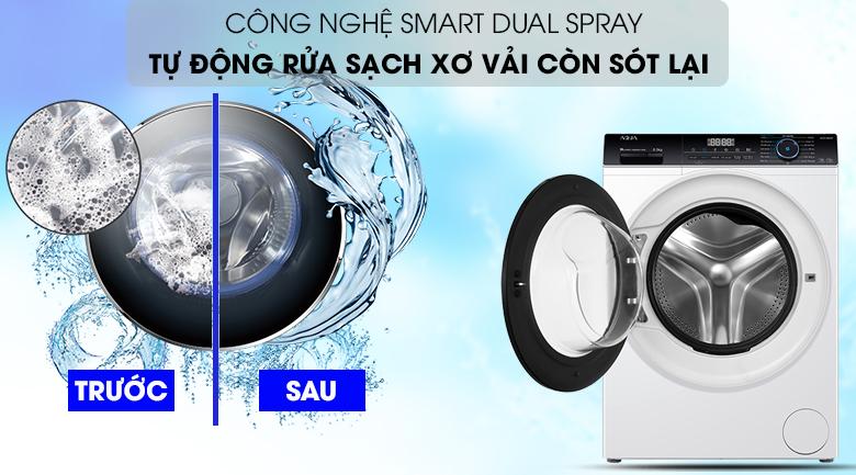 Máy giặt Aqua Inverter 8 KG AQD-A800F W giúp rừa sạch sơ vải