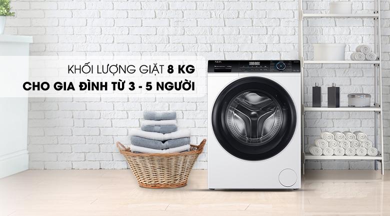 Máy giặt Aqua Inverter 8 KG AQD-A800F W có khối lượng giặt 8 kg