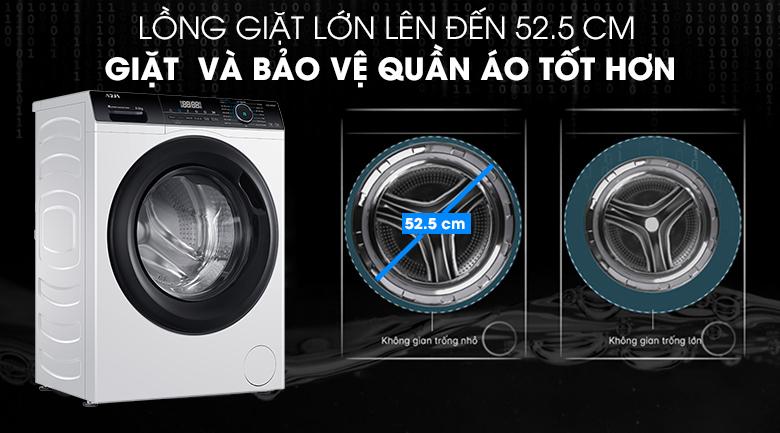 Máy giặt Aqua Inverter 8 KG AQD-A800F W có lồng giặt lớn