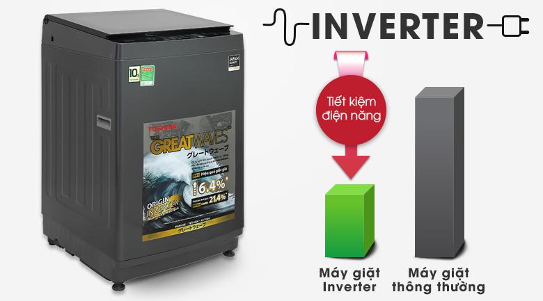 Máy giặt Toshiba Inverter 10,5 kg AW-DUK1150HV(MG )- Tiết kiệm điện năng với công nghệ Inverter