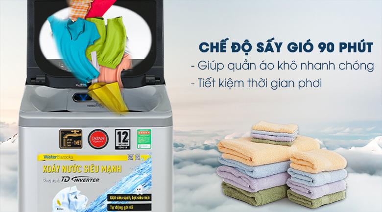 Sấy gió 90 phút -Máy giặt Panasonic Inverter 9.5kg NA-FD95X1LRV