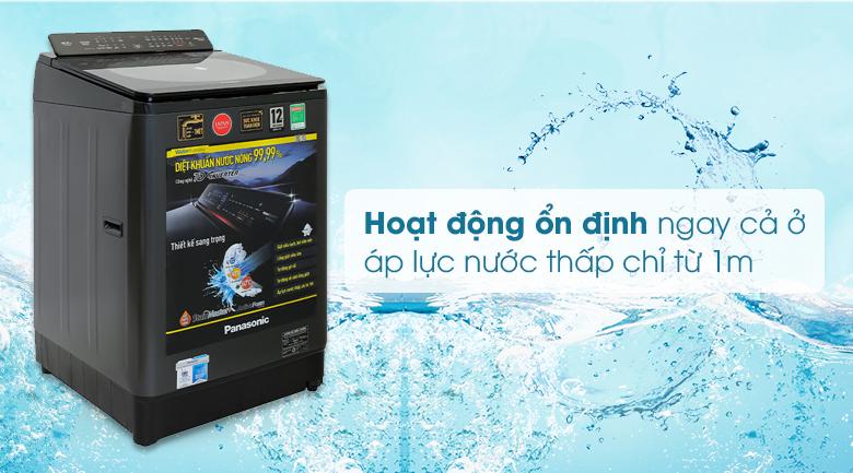 Máy giặt Panasonic Inverter 12.5 Kg NA-FD125V1BV - Hoạt động ổn định ở áp lực nước thấp chỉ từ 1m