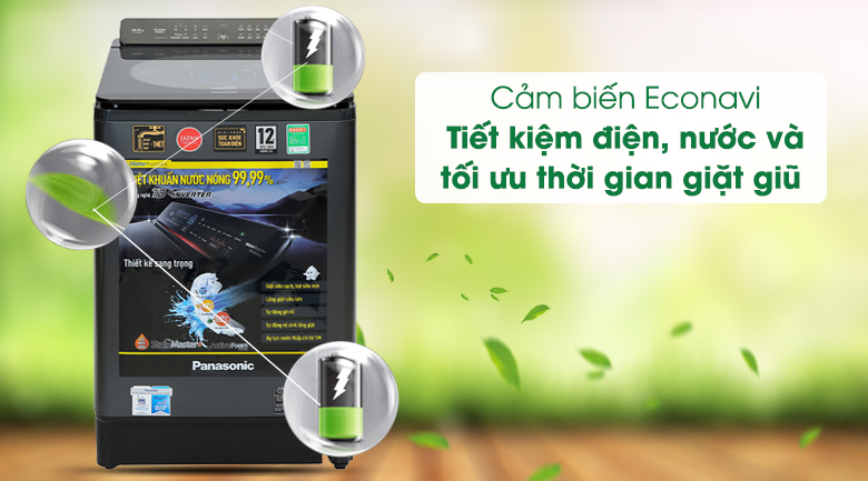 Máy giặt Panasonic Inverter 12.5 Kg NA-FD125V1BV - Cảm biến Econavi