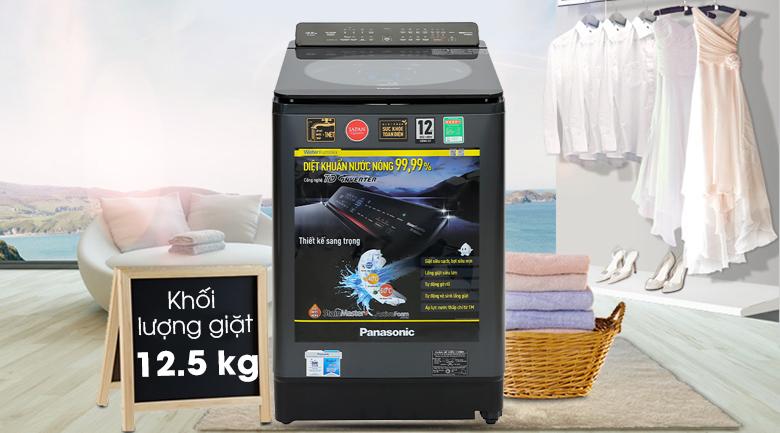 Máy giặt Panasonic Inverter 12.5 Kg NA-FD125V1BV - Khối lượng giặt 12.5 kg, phù hợp cho gia đình trên 7 người