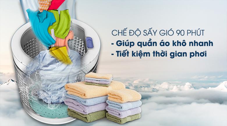 Máy giặt Panasonic Inverter 12.5 Kg NA-FD125V1BV - Rút ngắn thời gian phơi đồ với chức năng sấy gió 90 phút