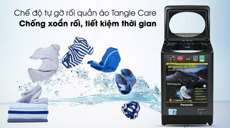 Máy giặt Panasonic Inverter 12.5 Kg NA-FD125V1BV - Chống xoắn rối quần áo nhờ chế độ tự động gỡ rối Tangle Care