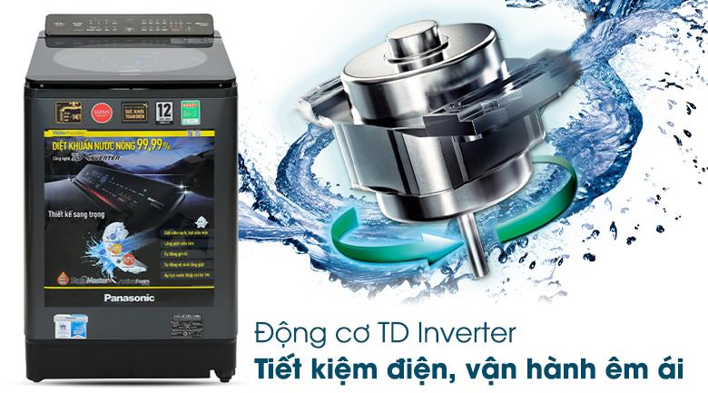 Máy giặt Panasonic Inverter 12.5 Kg NA-FD125V1BV - Tiết kiệm điện, vận hành êm với công nghệ TD Inverter