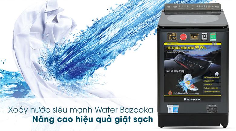 Máy giặt Panasonic Inverter 12.5 Kg NA-FD125V1BV - Xoáy nước mạnh mẽ Water Bazooka