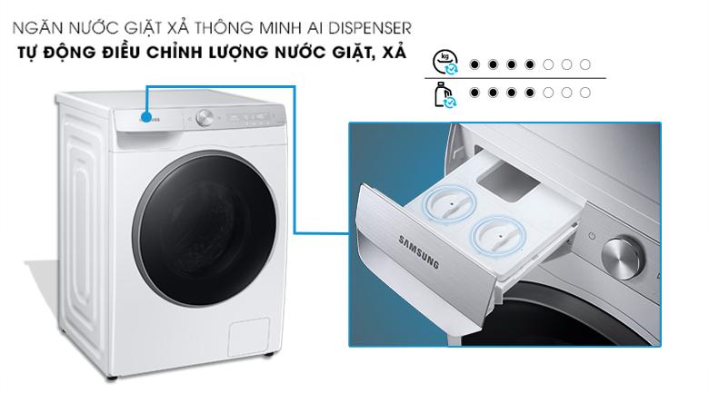 Máy giặt Samsung WW10TP44DSH/SV - hộp đựng bột giặt thông minh