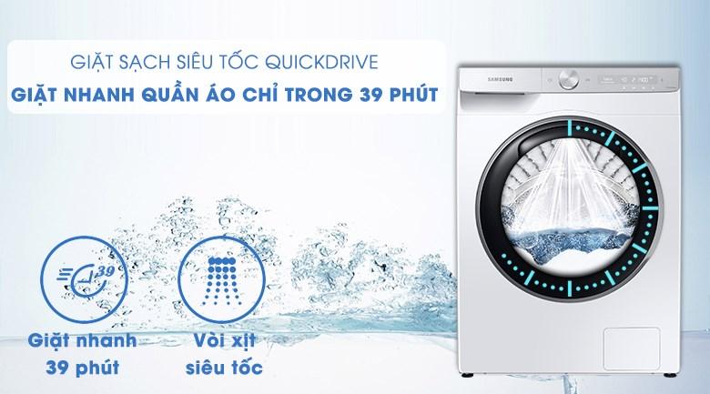 Máy giặt Samsung WW90TP54DSH/SV - giặt nhanh 39 phút