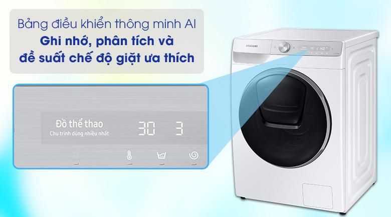Máy giặt Samsung WW90TP54DSH/SV - bảng điều khiển thông minh