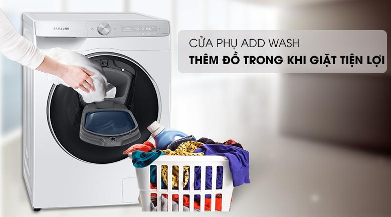 Máy giặt Samsung WW90TP54DSH/SV - cửa phụ Add Wash