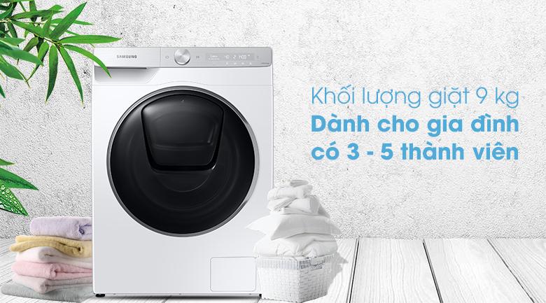 Máy giặt Samsung WW90TP54DSH/SV - khối lượng giặt