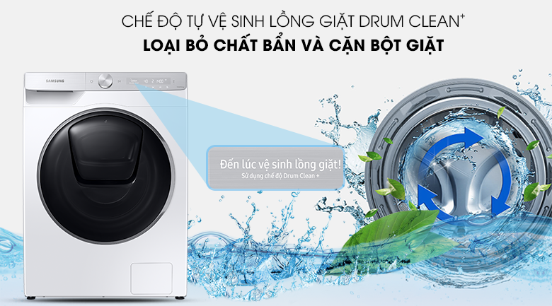 Máy giặt Samsung WW90TP54DSH/SV - Drum Clean+