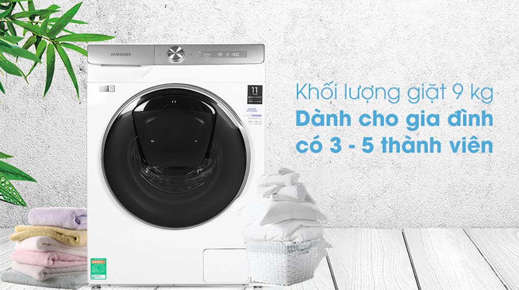 Máy giặt Samsung Inmverter 9 kg WW90TP54DSH/SV - Khoi luong giat