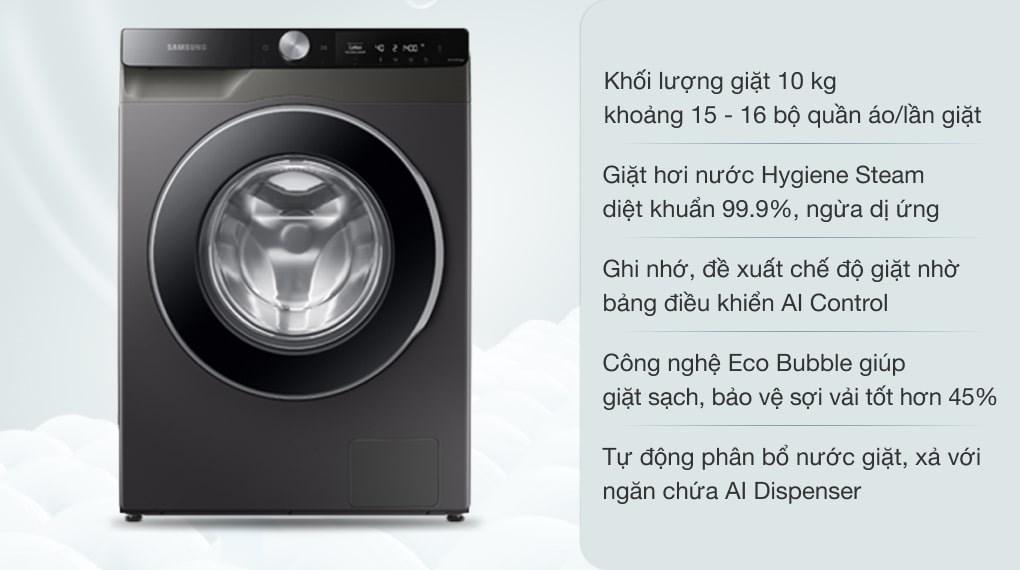 Máy giặt Samsung AI Inverter 10kg WW10T634DLX/SV