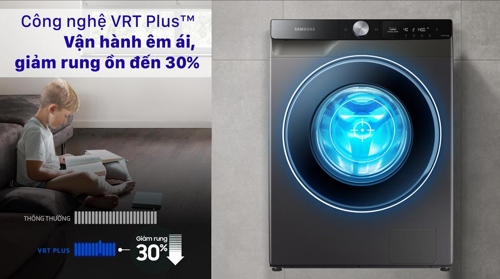 Máy giặt Samsung AI Inverter 10 kg WW10T634DLX/SV - Giặt giũ êm ái với công nghệ VRT Plus™