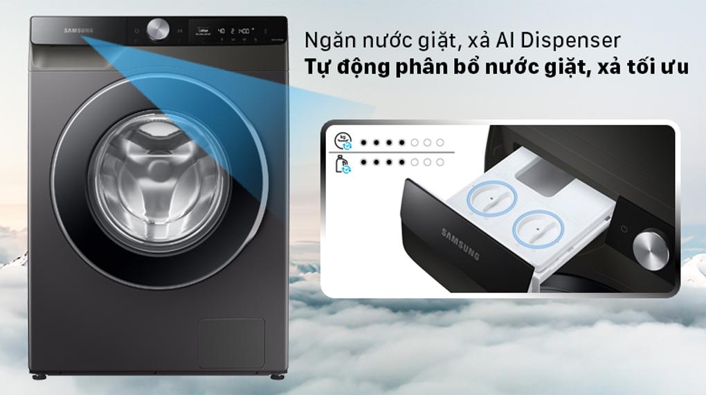 Máy giặt Samsung AI Inverter 10 kg WW10T634DLX/SV - Ngăn nước xả thông minh AI Dispenser