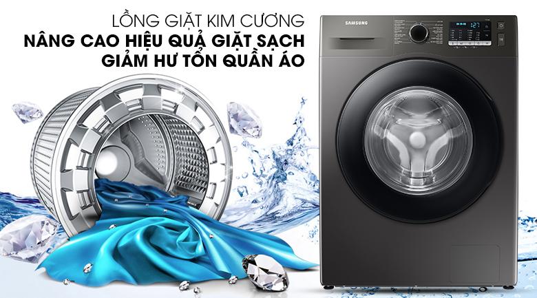 Máy giặt Samsung Inverter 9.5kg WW95TA046AX/SV - Nâng cao hiệu quả giặt sạch, giảm thiểu hư tổn quần áo với lồng giặt kim cương