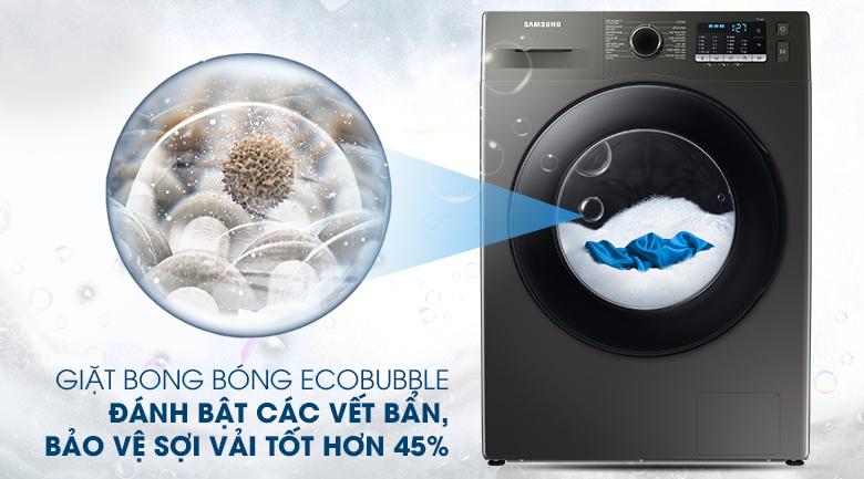 Máy giặt Samsung Inverter 9.5kg WW95TA046AX/SV - Giặt sạch sâu, bảo vệ sợi vải tốt hơn 45% với công nghệ giặt bong bóng siêu mịn EcoBubble