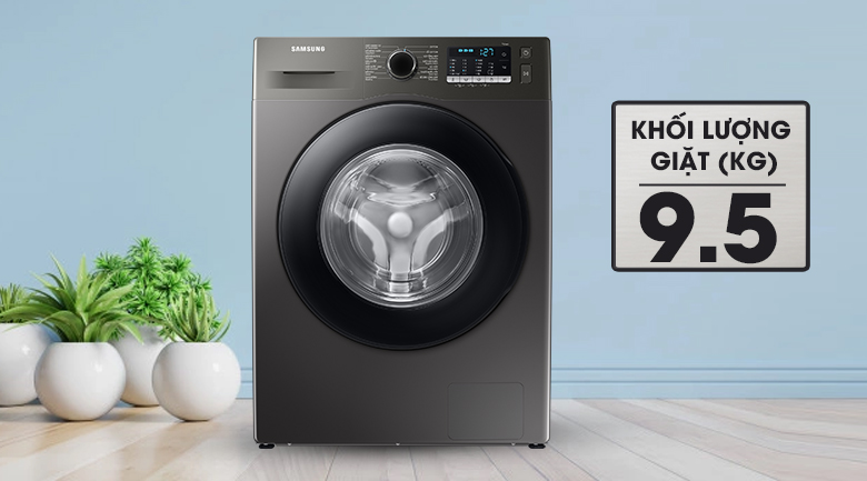 Máy giặt Samsung Inverter 9.5kg WW95TA046AX/SV - Khối lượng giặt 9.5 kg, phù hợp với gia đình có từ 5 - 7 người