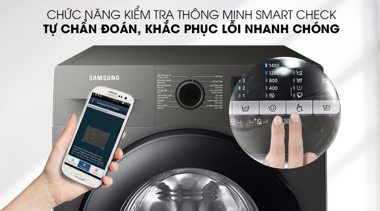 Máy giặt Samsung Inverter 9.5kg WW95TA046AX/SV - Chẩn đoán sự cố và khắc phục lỗi nhanh chóng với Smart Check