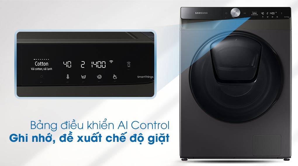 Máy giặt sấy Samsung Addwash Inverter 9.5kg WD95T754DBX/SV-Ghi nhớ tự động, đề xuất chế độ giặt tiện lợi nhờ bảng điều khiển thông minh AI