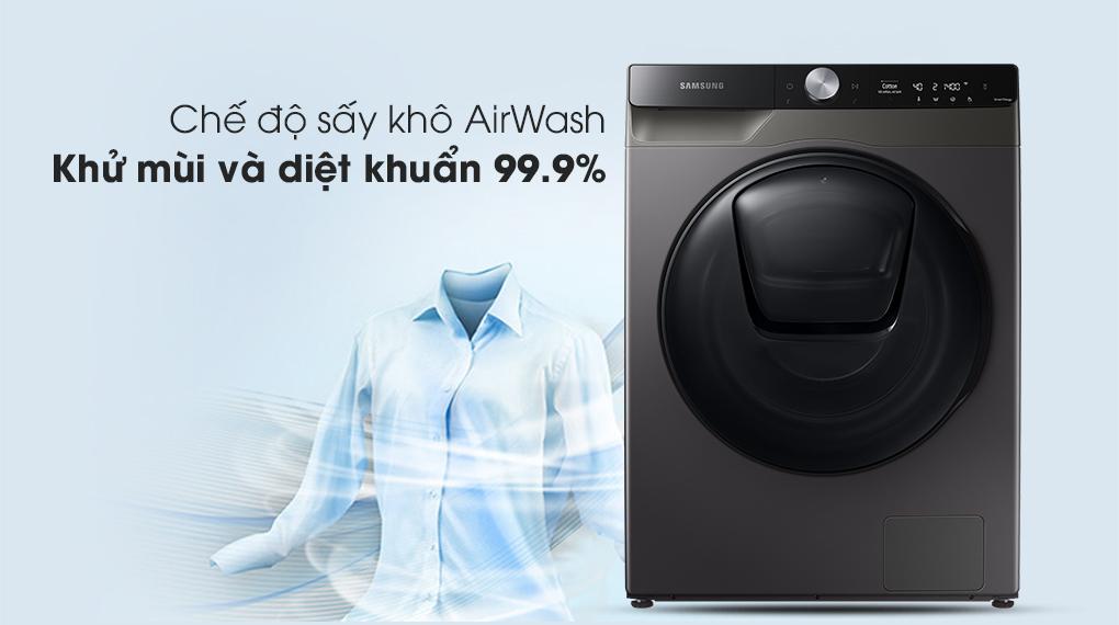 Máy giặt sấy Samsung Addwash Inverter 9.5kg WD95T754DBX/SV-Kết hợp giặt với chế độ sấy khô AirWash khử mùi và diệt khuẩn đến 99.9%
