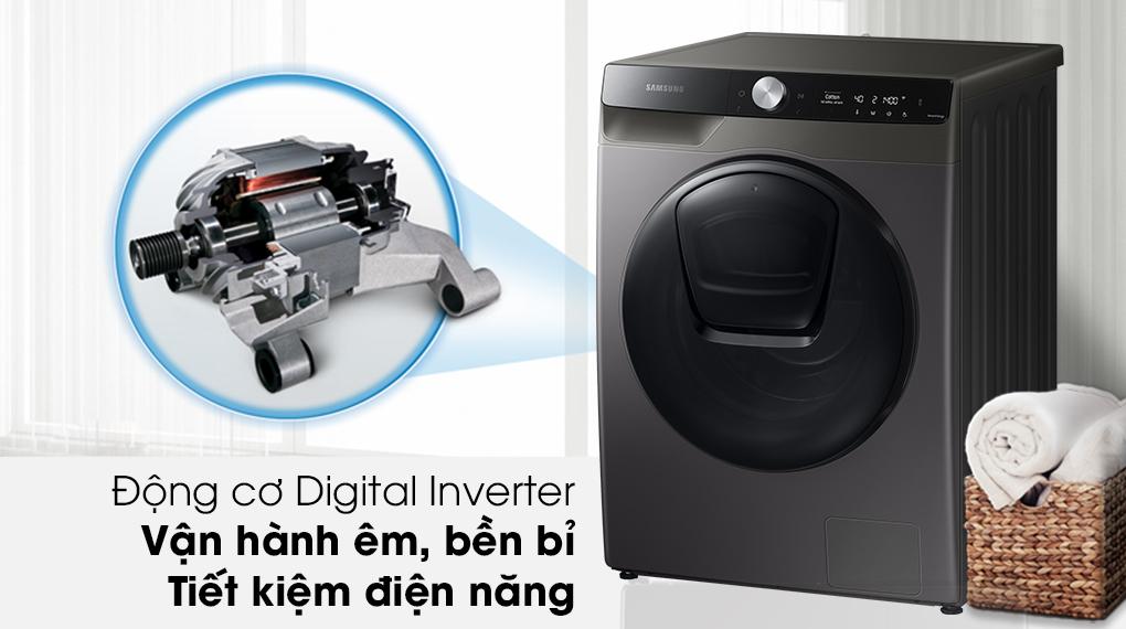 Máy giặt sấy Samsung Addwash Inverter 9.5kg WD95T754DBX/SV-Vận hành êm ái, mang lại hiệu quả tiết kiệm điện cao với công nghệ Digital Inverter