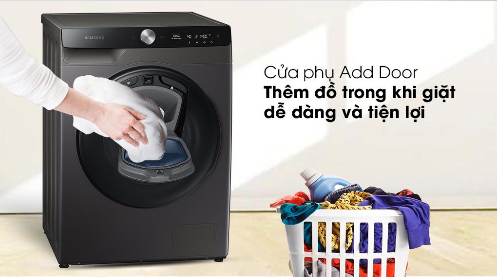 Máy giặt sấy Samsung Addwash Inverter 9.5kg WD95T754DBX/SV-Trang bị cửa phụ AddWash tiện lợi khi thêm đồ giặt bất kỳ lúc nào