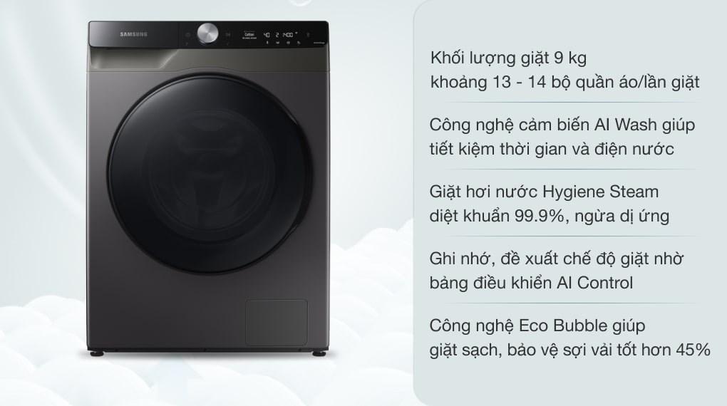 Máy giặt Samsung AI Inverter 9kg WW90TP44DSB/SV
