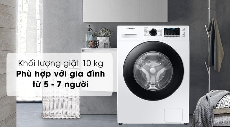 Máy giặt Samsung Inverter 10kg WW10TA046AE/SV - Khối lượng giặt