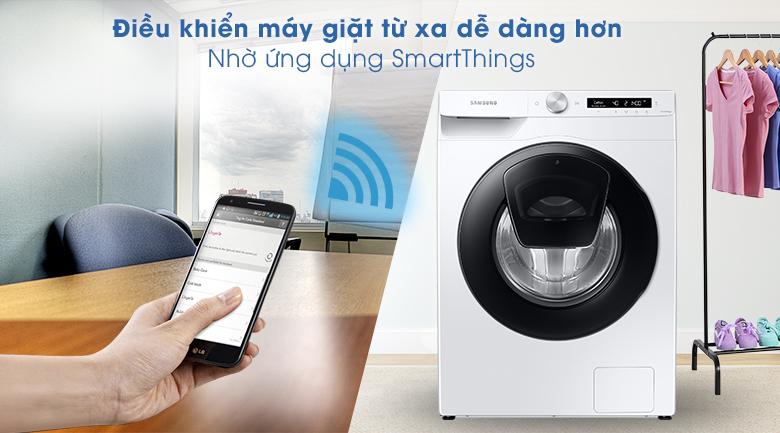 Máy giặt Samsung Addwash Inverter 8.5kg WW85T554DAW/SV - SmartThings