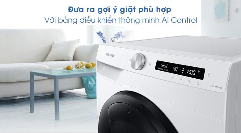 Máy giặt Samsung Addwash Inverter 8.5kg WW85T554DAW/SV - Bảng điều khiển thông minh