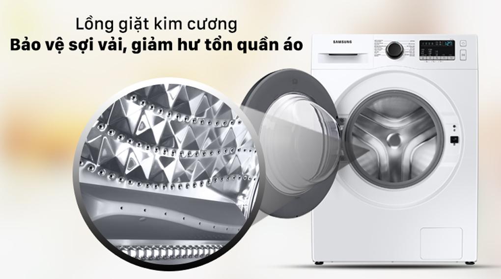 Máy giặt Samsung Inverter 9.5 kg WW95T4040CE/SV - Lồng giặt kim cương bảo vệ sợi vải, giảm hư tổn quần áo