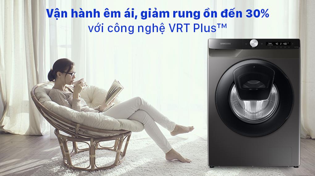 Máy giặt Samsung Inverter 8.5 kg WW85T554DAX/SV - Giảm rung ồn, vận hành êm ái với công nghẹ VRT Plus™