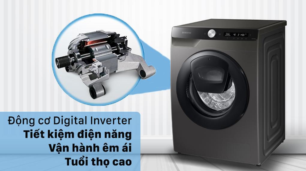 Máy giặt Samsung Inverter 8.5 kg WW85T554DAX/SV - Tối ưu hóa điện năng, vận hành êm ái, bền bỉ với công nghệ Digitial Inverter