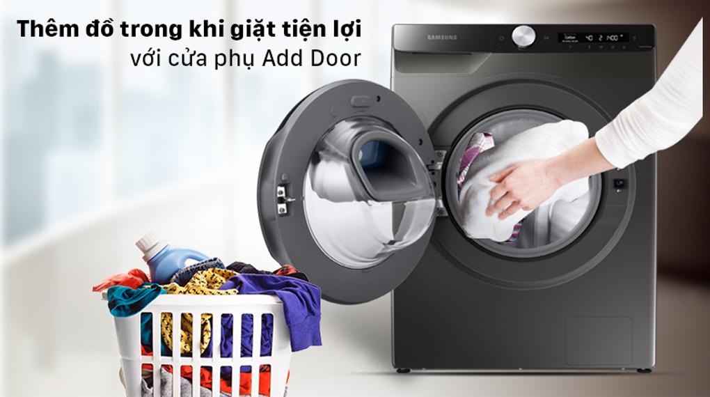 Máy giặt Samsung Inverter 8.5 kg WW85T554DAX/SV - thêm đồ giặt tiện tợi với cửa phụ AddWash™