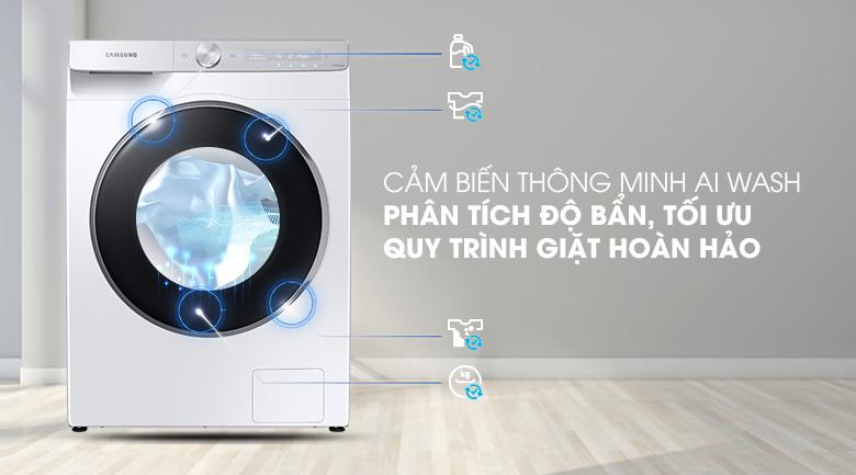 Máy giặt Samsung AI Inverter 9kg WW90TP44DSH/SV - Giặt cảm biến thông minh AI Wash