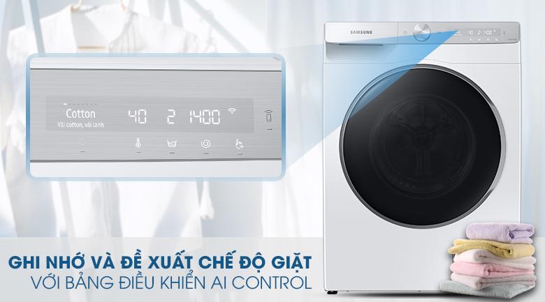 Máy giặt Samsung AI Inverter 9kg WW90TP44DSH/SV - Bảng điều khiển thông minh AI Cotrol