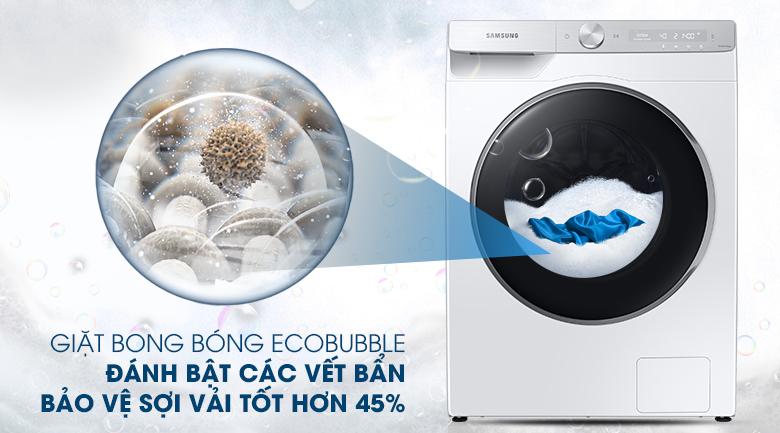 Máy giặt Samsung AI Inverter 9kg WW90TP44DSH/SV - Giặt bong bóng siêu mịn EcoBubble