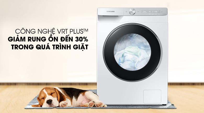 Máy giặt Samsung AI Inverter 9kg WW90TP44DSH/SV - Giảm rung ồn đến 30%