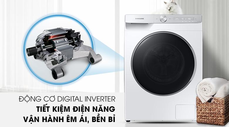 Máy giặt Samsung AI Inverter 9kg WW90TP44DSH/SV - Động cơ Digital Inverter tiết kiệm điện